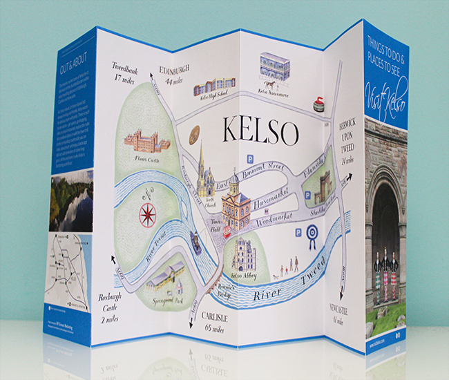 Visit Kelso illustrated map