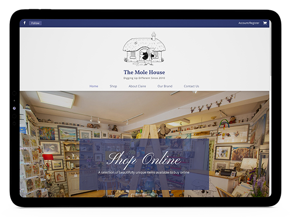 Website design for The Mole House in Kelso